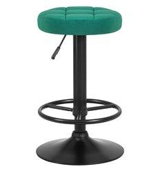 Стул барный LM-5008 зеленый, черная база, велюр