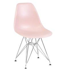 Стул Eames LMZL-PP638А светло-розовый пластик, ножки хром