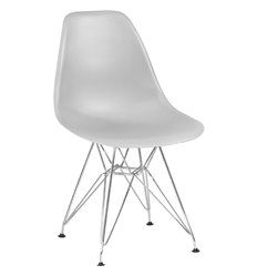 Стул Eames LMZL-PP638А светло-серый пластик, ножки хром
