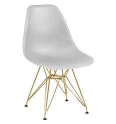 Стул Eames LMZL-PP638А светло-серый пластик, ножки золото