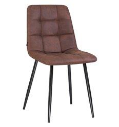 Стул LML-7094 Alex Black микрофибра коричневая, ножки черные