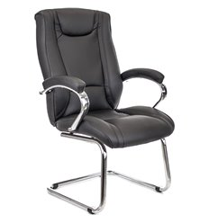 Кресло EVERPROF ARGO CF PU Black для посетителя, экокожа, цвет черный