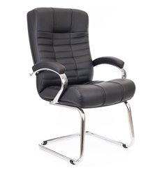 Кресло EVERPROF Atlant CF PU Black для посетителя, экокожа, цвет черный