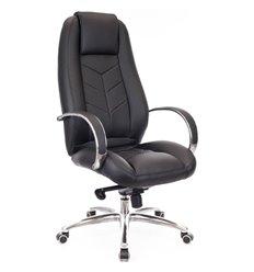 Кресло EVERPROF DRIFT Full AL M Black для руководителя, натуральная кожа, цвет черный