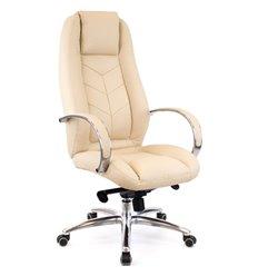 Кресло EVERPROF DRIFT Full AL M Beige для руководителя, натуральная кожа, цвет бежевый