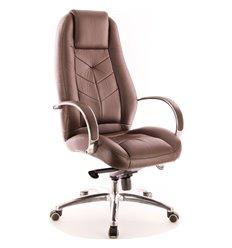 Кресло EVERPROF DRIFT Full AL M PU Brown для руководителя, экокожа, цвет коричневый