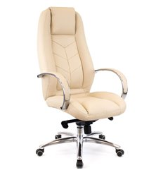 Кресло EVERPROF DRIFT Full AL M PU Beige для руководителя, экокожа, цвет бежевый