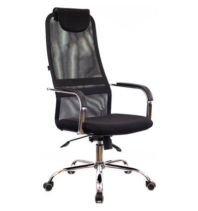 Кресло EVERPROF EP-708 TM Mesh Black для руководителя, сетка/ткань, цвет черный