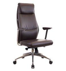 Кресло EVERPROF London PU Brown для руководителя, экокожа, цвет коричневый