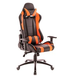 Кресло EVERPROF Lotus S2 PU Orange игровое, экокожа, цвет оранжевый/черный