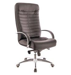 Кресло EVERPROF Orion AL M Black для руководителя, натуральная кожа, цвет черный