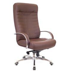 Кресло EVERPROF Orion AL M Brown для руководителя, натуральная кожа, цвет коричневый