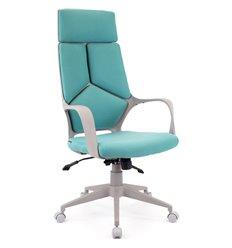 Кресло EVERPROF Trio Grey TM Blue для руководителя, ткань, цвет бирюзовый