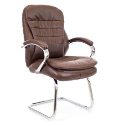 Кресло EVERPROF Valencia CF PU Brown для посетителя, экокожа, цвет коричневый