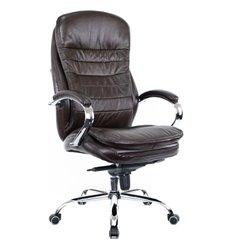 Кресло EVERPROF VALENCIA M Brown для руководителя, кожа, цвет коричневый