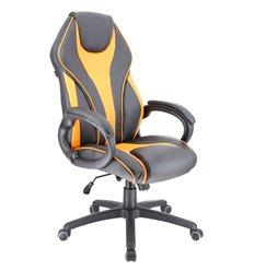 Кресло EVERPROF Wing TM Orange игровое, экокожа, цвет черный/оранжевый