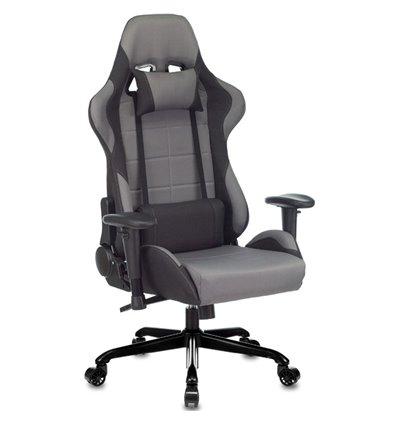 Кресло Бюрократ 771N/GREY-BL игровое, крестовина металл, ткань, цвет серый/черный