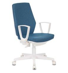 Кресло Бюрократ CH-W545/DENIM для оператора, белый пластик, цвет синий