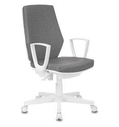 Кресло Бюрократ CH-W545/GRAFIT для оператора, белый пластик, цвет серый
