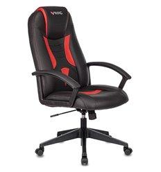 Кресло Zombie VIKING-8/BL+RED игровое, экокожа, цвет черный/красный
