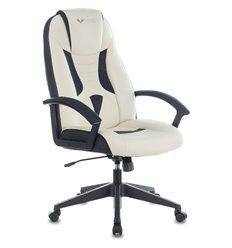 Кресло Zombie VIKING-8/WH+BLACK игровое, экокожа, цвет белый/черный