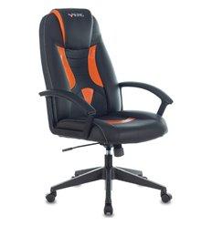 Кресло Zombie VIKING-8/BL+OR игровое, экокожа, цвет черный/оранжевый
