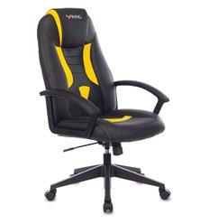 Кресло Zombie VIKING-8/BL+YELL игровое, экокожа, цвет черный/желтый