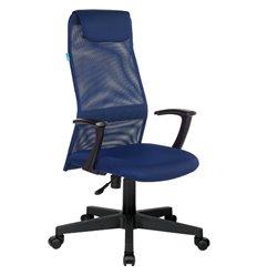 Кресло Бюрократ KB-8/DB/TW-10N для руководителя, цвет синий