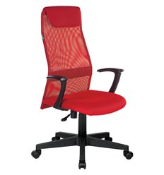 Кресло Бюрократ KB-8/R/TW-97N для руководителя, цвет красный