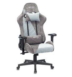 Кресло Zombie VIKING X GREY Fabric игровое, ткань, цвет серый/серо-голубой