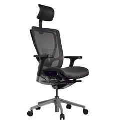 Кресло Schairs AEON - A01S для руководителя, эргономичное, сетка, цвет серый