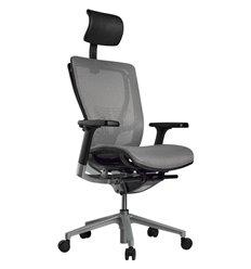 Кресло Schairs AEON - A01S для руководителя, эргономичное, сетка, цвет светло-серый