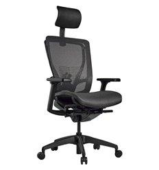 Кресло Schairs AEON - A01B для руководителя, эргономичное, сетка, цвет серый