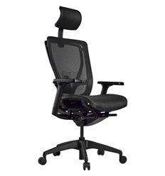 Кресло Schairs AEON - A01B для руководителя, эргономичное, сетка, цвет черный