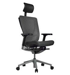 Кресло Schairs AEON - M01S для руководителя, эргономичное, сетка/ткань, цвет серый