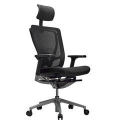 Кресло Schairs AEON - M01S для руководителя, эргономичное, сетка/ткань, цвет черный