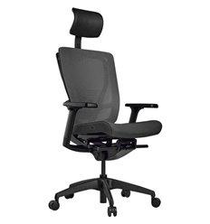 Кресло Schairs AEON - M01B для руководителя, эргономичное, сетка/ткань, цвет серый