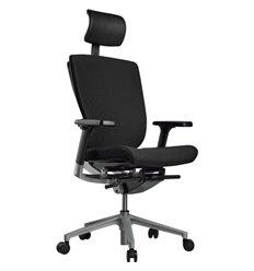 Кресло Schairs AEON - P01S для руководителя, эргономичное, ткань, цвет черный