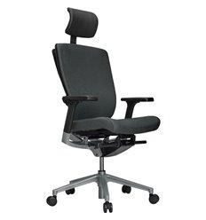 Кресло Schairs AEON - P01S для руководителя, эргономичное, ткань, цвет серый