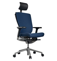Кресло Schairs AEON - P01S для руководителя, эргономичное, ткань, цвет синий