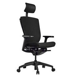 Кресло Schairs AEON - P01B для руководителя, эргономичное, ткань, цвет черный
