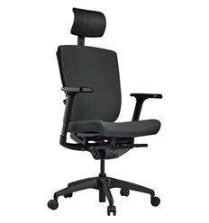 Кресло Schairs AEON - P01B для руководителя, эргономичное, ткань, цвет серый