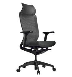 Кресло Schairs ZEN2 - M01B для руководителя, эргономичное, сетка/ткань, цвет серый