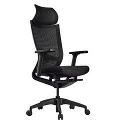 Кресло Schairs ZEN2 - M01B для руководителя, эргономичное, сетка/ткань, цвет черный
