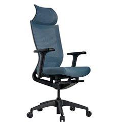 Кресло Schairs ZEN2 - M01B для руководителя, эргономичное, сетка/ткань, цвет голубой