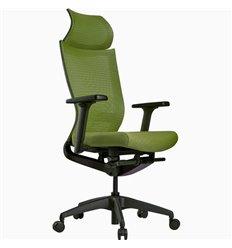 Кресло Schairs ZEN2 - M01B для руководителя, эргономичное, сетка/ткань, цвет зеленый