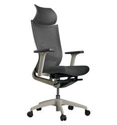 Кресло Schairs ZEN2 - M01W для руководителя, эргономичное, сетка/ткань, цвет серый