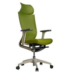 Кресло Schairs ZEN2 - M01W для руководителя, эргономичное, сетка/ткань, цвет зеленый