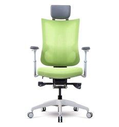 Кресло Schairs TONE-M01W green для руководителя, эргономичное, сетка/ткань, цвет зеленый