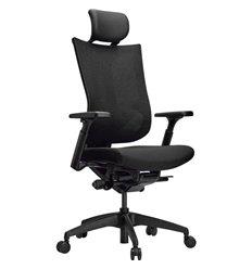 Кресло Schairs TONE-M01B black для руководителя, эргономичное, сетка/ткань, цвет черный